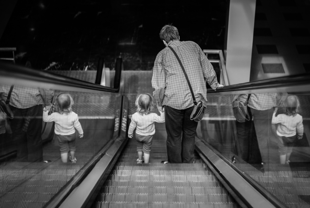 Escalator Reflections