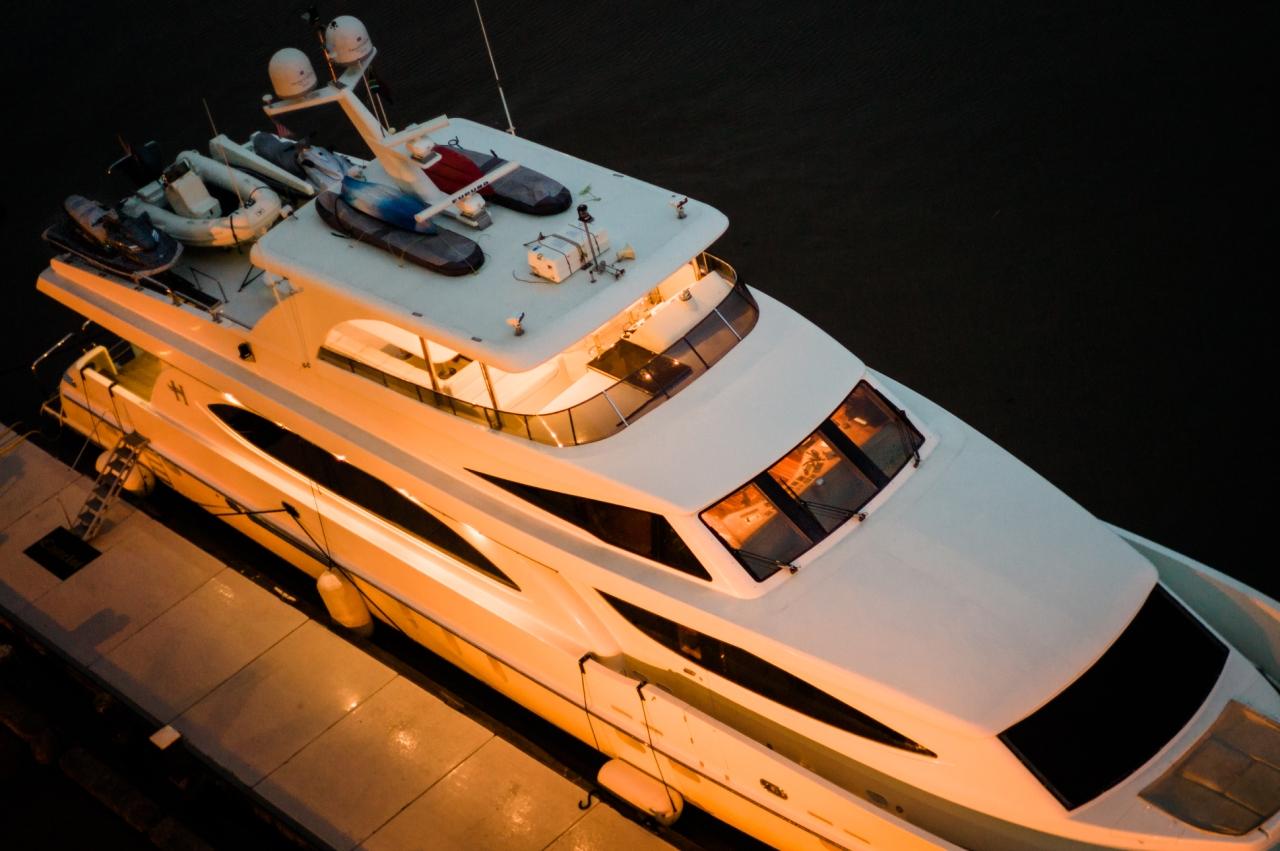 Yacht at the Pier | Savannah Georgia