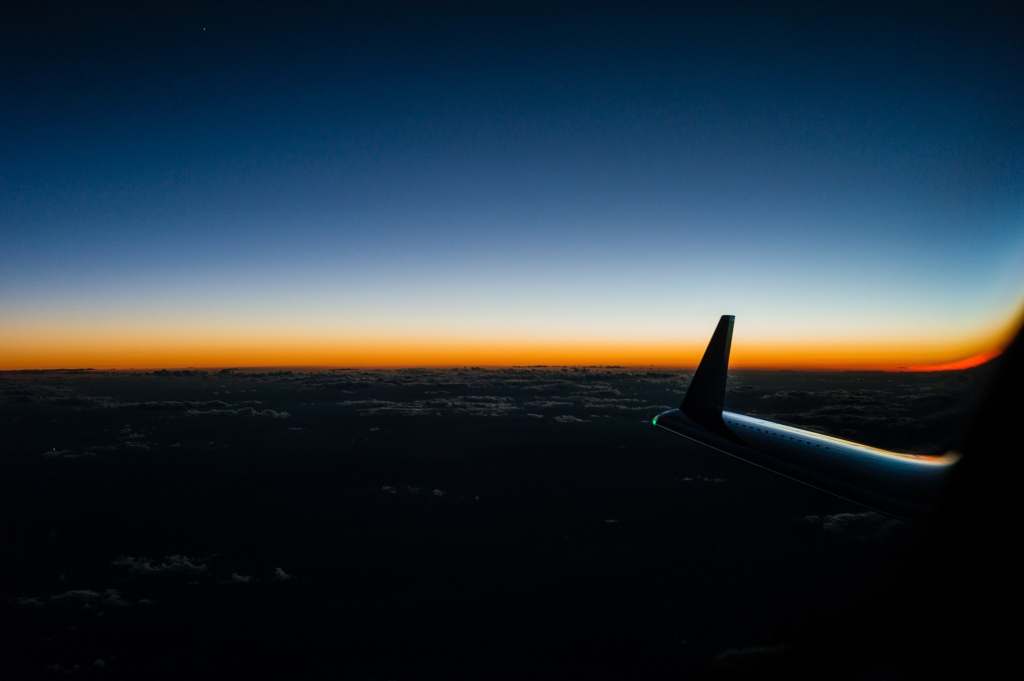 Sunset at FL410
