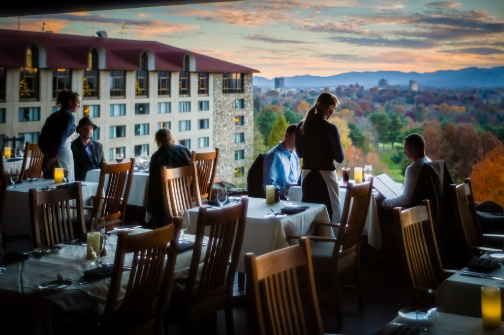 Dining with a View at Grove Park Inn