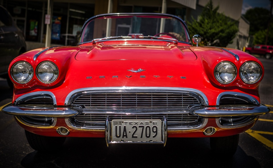 Vintage Red Corvette