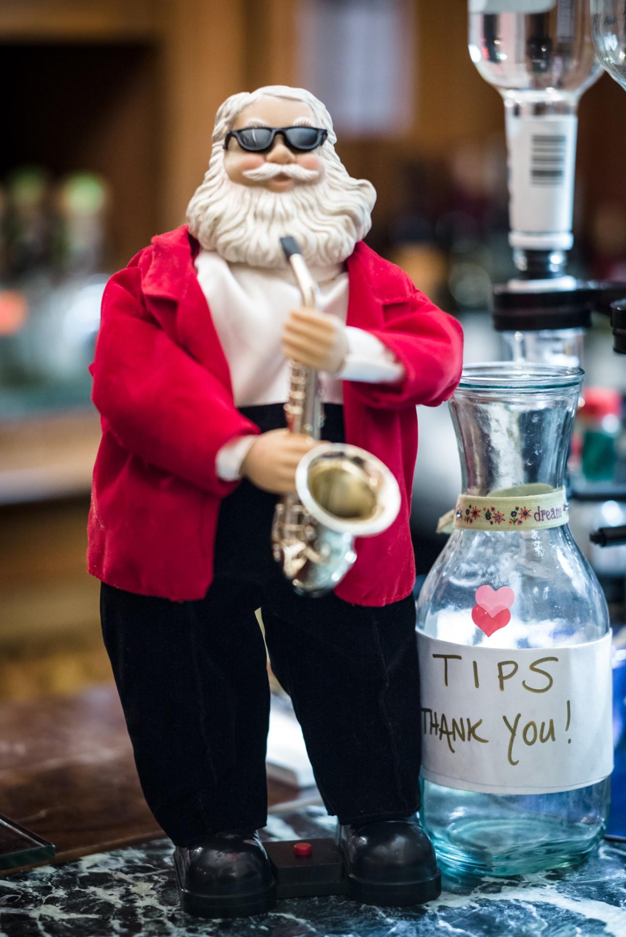 Santa Claus playing the Sax