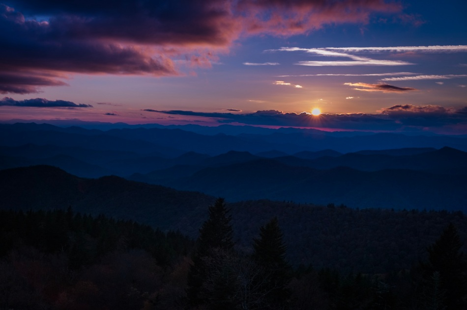 Sunset - Cowee Lookout