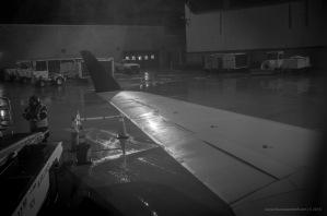 Raining in Traverse City Cherry Capital Airport