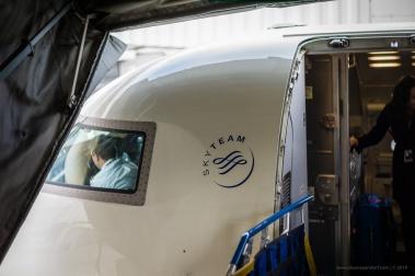 Boarding my Delta flight from Detroit to Rochester