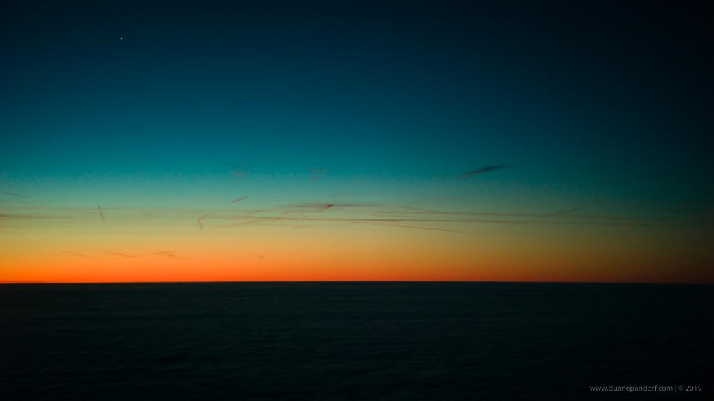 Sunrise over the Atlantic Ocean @ 47,000'